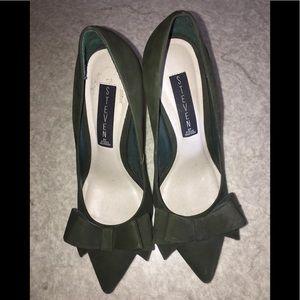 Steven by Steve Madden militar green bow heels